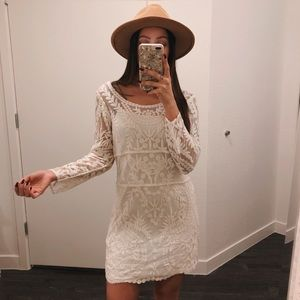 Express Lace Embroidered Boho Dress